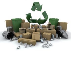 Bilden föreställer återvinning.