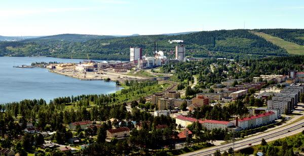 Bilden föreställer Vivsta från ovan.
