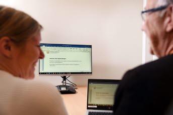 Bilden föreställer medarbetare på upphandlingsenheten