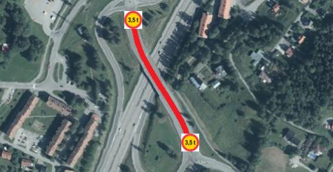 Bilden föreställer trafikplats 231, kartbild.