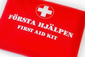 Bilden föreställer första hjälpen väska.