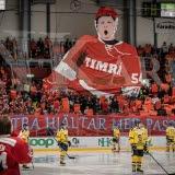 Bilden föreställer Timrå IK-supporter.