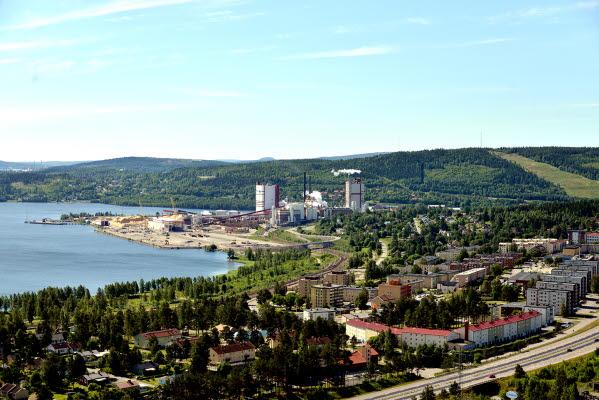 Bilden föreställer Vivsta i Timrå från ovan.