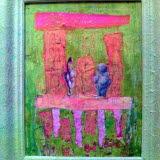 Bilden förestäler en tavla av Elisabeth Nordin