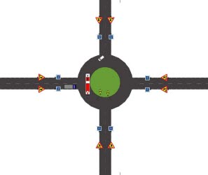 Illustration över rondellen i Timrå