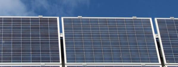 Bilden föreställer solpaneler