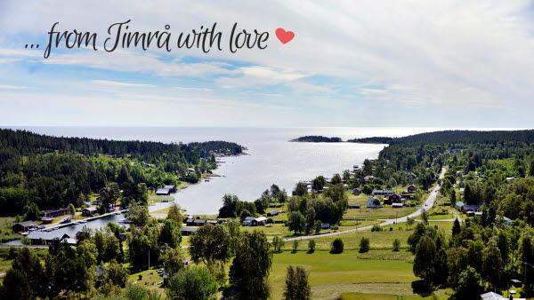 Bilden föreställer Tynderö från ovan, en vacker plats i Timrå.
