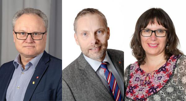 Glenn Nordlund, Stefan Dalin och Maritza Villanueva-Contreras.