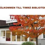 Bilden föreställer entrén vid Timrå bibliotek