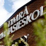 Bilden föreställer fasaden på Timrå Gymnasium
