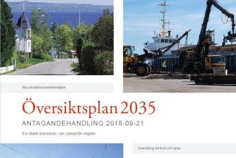 Bilden föreställer planhandlingen Översiktsplan 2035