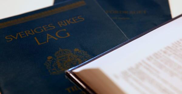 Bilden visar svensk lagbok