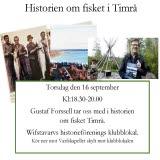 Bilden föreställer evenemanget Historien om fisket i Timrå