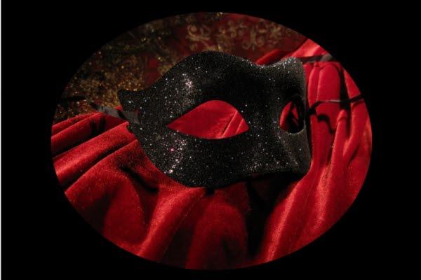 Bild på en teatermask.