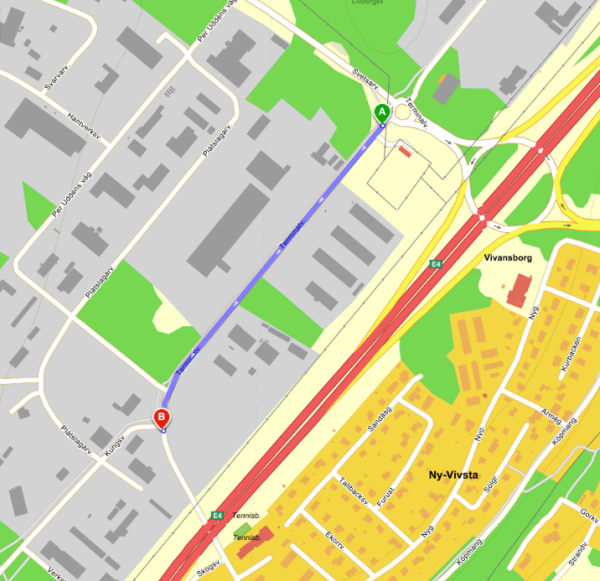 Kartbild Terminalvägen