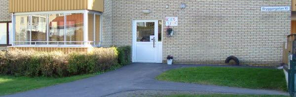 Bilden visar ingången till korttids/eftis