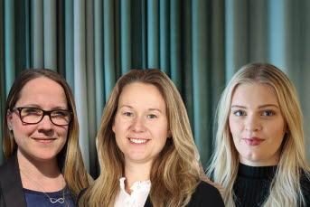 Ida Pettersson, samordnare på Kommunförbundet, Linda Strid, tillförordnad programledare på Region Västernorrland och Elin Berglund, samordnare på Timrå kommun..