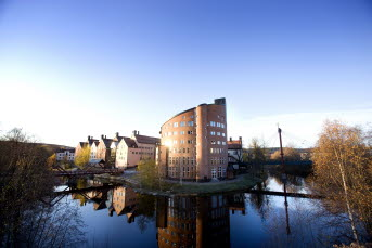 Bilden föreställer Mittuniversitetets byggnad. Foto Sandra Pettersson.