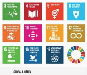 Bilden föreställer de globala målen. Illustration.