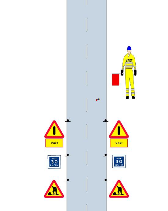 Illustration väg vägsymboler