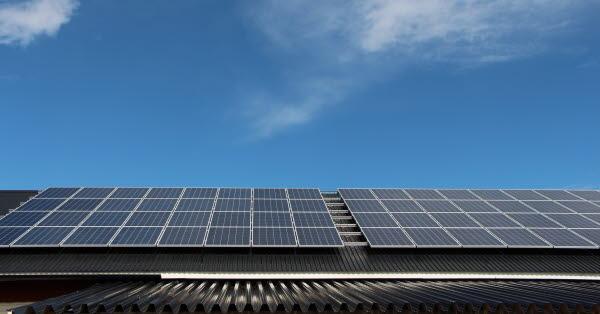 Bilden föreställer solceller.