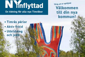 Bilden föreställer första sidan på tidskriften Flytta hit.