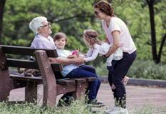 Morfar, mamma, barn