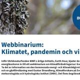 Bilden föreställer en inbjudan om klimatet, pandemin och vi