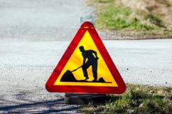 Bilden föreställer ett vägmärke