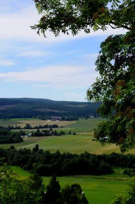 Bilden föreställer en vy över Ljustorp