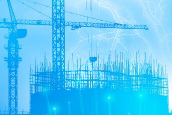 Bilden föreställer en byggarbetsplats