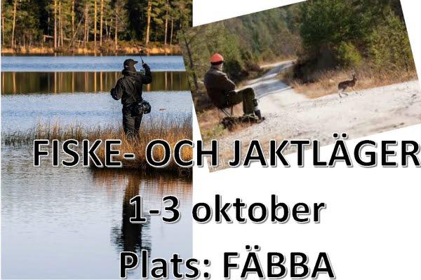 Bilden föreställer en affisch över evenemanget Fiske- och jaktlägret