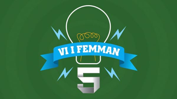 """Bild på logotypen för frågesporten """"Vi i femman""""."""