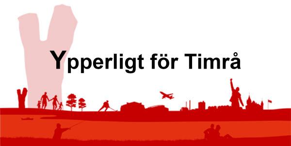 Bilden föreställer Timrå kommuns skyline