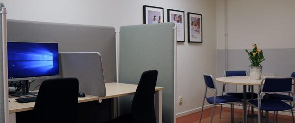 Timrå lärcentrum, en mötesplats för vuxna studerande.