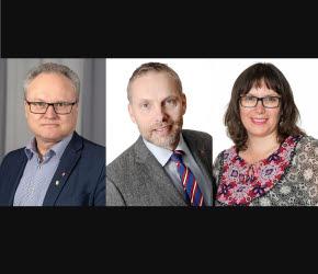 Målbild för en god och nära vård. Glenn Nordlund (S), Stefan Dalin (S) och Maritza Villanueva Contreras (V)